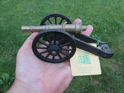 """Penncraft Forged Iron Diecast Revolutionary War Cannon Black with Tag 6 1/2"""""""