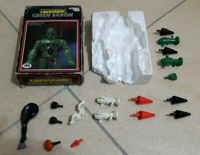 Lotto Micronauti robot accessori green baron king atlas vintage gig mego 70 80