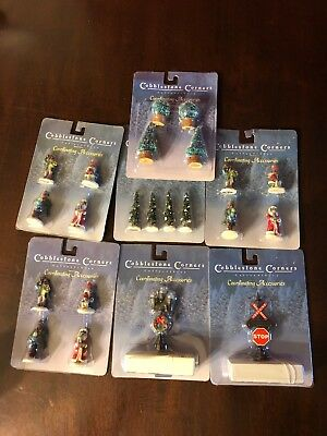 7 Pc LOT Cobblestone Corners Collectibles Coordinating Accessories Brand New!