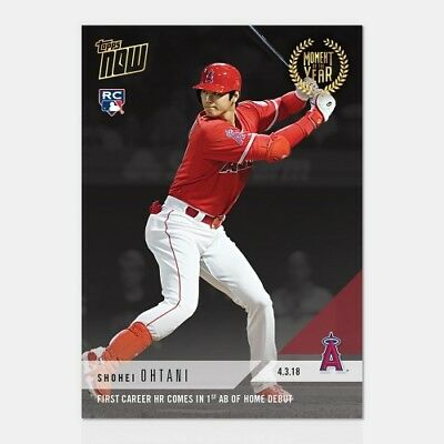 Topps NOW Shohei Ohtani First HR First At Bat At Home Moment of the Year 1 MOY1
