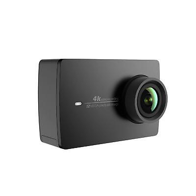 YI 4K Action and Sports Camera 4K/30fps Video 12MP Live Stream Voice Control Bla