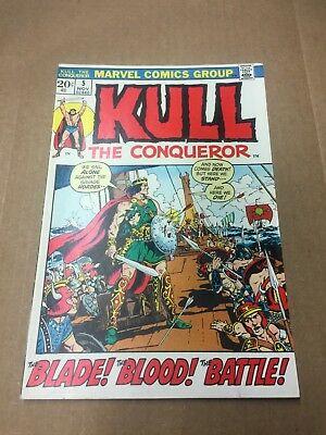 KULL the CONQUEROR #5 1972 VF/NM 9.0 Bronze Age Conan Red Sonja Marvel Comics