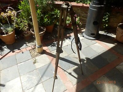 Antique / Vintage Military Field Style Campaine Tripod Most Unusual
