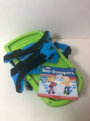 Ideal SNO-STOMPERS Make Dinosaur Footprints in Snow! Green NEW