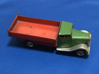 Vintage 40's Tri-Ang Minic Tip Lorry Wind Up Clockwork Car Works! No Key.