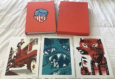 PEARL JAM vs AMES BROS Hardcover LIMITED EDITION Signed 758/2600 & 3 Art Prints