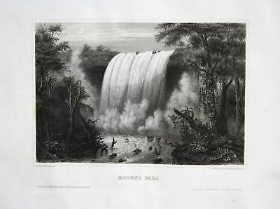 Browns Falls Queensland Australia Ansicht view Stahlstich antique print ca. 1840