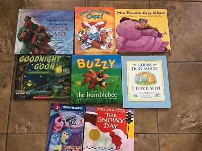 Lot of 8 Fiction Children's Picture Books Sorted , HC & SC Great Books !