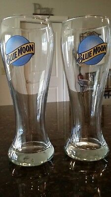 Blue Moon 16 Ounce Pilsner Beer Glasses