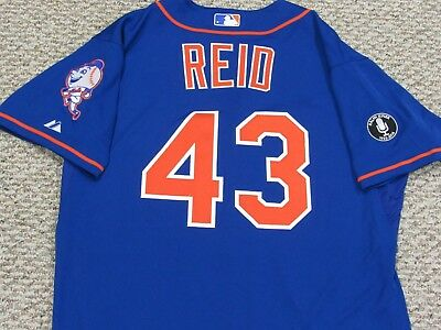 REID size 46 #43 2014 New York Mets game jersey issued home blue MLB HOLOGRAM