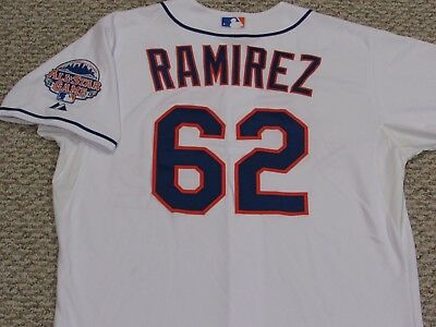 RAMIREZ sz 48 #62 2013 New York Mets game jersey home white issued MLB HOLOGRAM