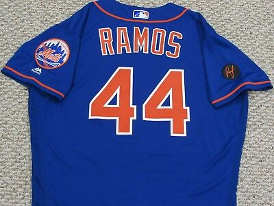 RAMOS size 46 #44 2018 New York Mets home blue game jersey issued MLB HOLO RUSTY