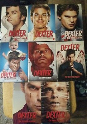DEXTER complete TV series - 1-8 WATCHED 2 TIMES SLIP COVER IN GREAT CONDITION