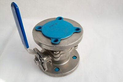 Genebre Ball Valve DN50 PN40 Flanged Fire Safe Stainless Steel 316  2'' Inch.