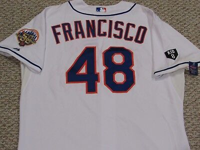 FRANCISCO SZ 52 #48 2012 Mets GAME USED jersey Home MLB HOLO 2 PATCHES MLB HOLO