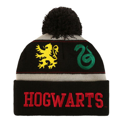 343ff00f365 Harry Potter Beanie Hat Hogwarts Pom Watchman Beanie Pom Knit Embroidered