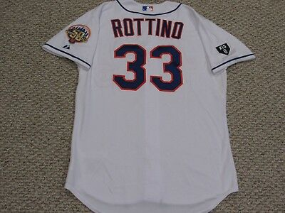 VINNY ROTTINO sz 46 #33 2012 Mets game jersey Home White  MLB HOLOGRAM 2 PATCH