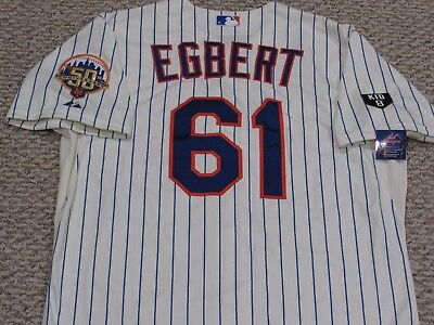 EGBERT size 48 #61 2012 Mets game jersey issued Home Cream  MLB HOLO 2 PATCH KID