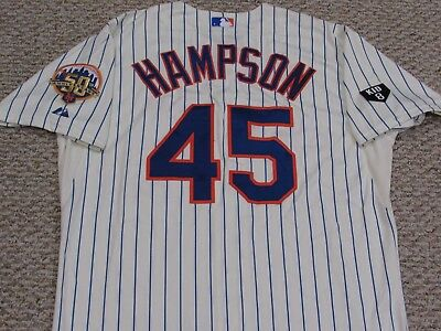 HAMPSON size 48 #45 2012 Mets GAME USED jersey Home Cream  MLB HOLO 2 PATCH KID