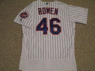 BEN ROWEN sz 46 #46 2017 New York Mets game jersey issued home white MLB HOLO