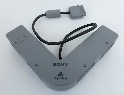 Genuine PS1 PS2 Multi Tap 4-Player Controller Adapter Sony Playstation SCPH-1070