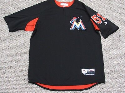 WIMMERS #51 sz Large 2018 MARLINS Game Used Jersey batting practice MLB HOLOGRAM