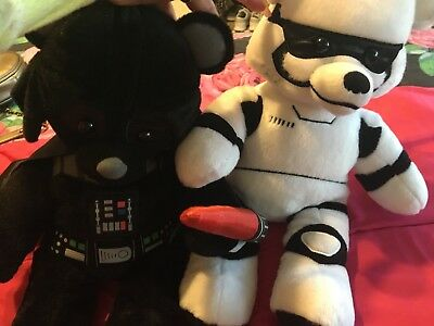 Star Wars Darth Vader w/sound  & Storm Trooper Build A Bear Teddy Bear
