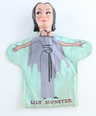 Rare Vintage Lily Munster Hand Puppet The Munsters 1960s