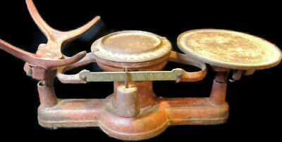 Antique Cast Iron HOWE RUTLAND Scale Co VT. No. 2, Weight Scale -Red