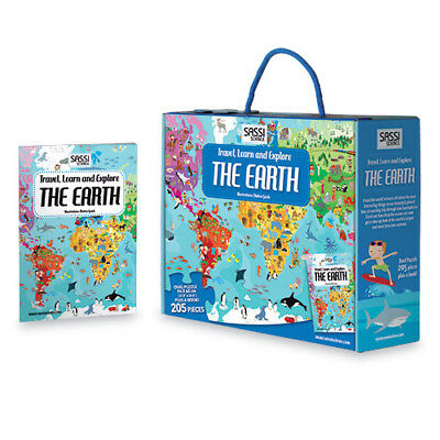 New Sassi Junior Travel Learn explore The Earth Puzzle Jigsaw Book 205 pieces
