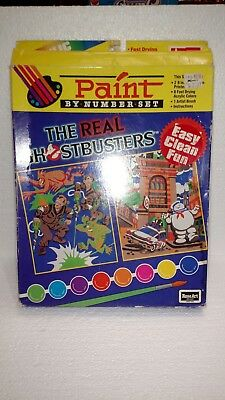 1989 Rose Art Ghostbusters Paint By Number In Box Unused