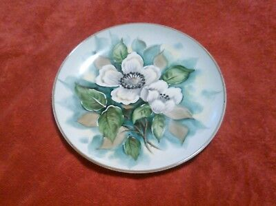 Decorative Plate-Vintage Japanese-Hand Painted Decorative Plate-Magnolia Flowers