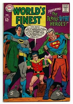 World's Finest # 173 VF+ the 1st S.A. App of Two-Face