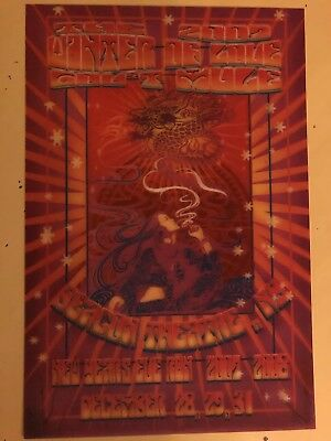 gov't mule 12/31/07 Lenticular Poster Beacon Theater New Years 3D OOP rare