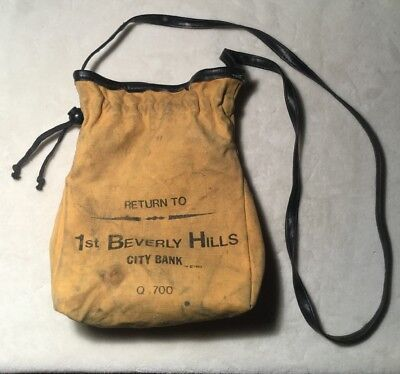 VINTAGE City National Bank of Beverly Hills CA 1983 Coin bag Quality 700