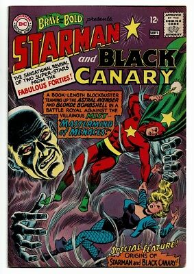 Brave & The Bold # 61 VF- OW Pgs Starman and Black Canary Origins