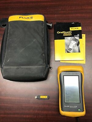 Fluke OneTouch 10/100 Network Assistant w/ Case and Charger