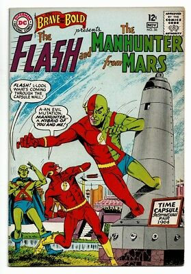 Brave & The Bold # 56 VF- OWW Pgs Flash and Manhunter from Mars
