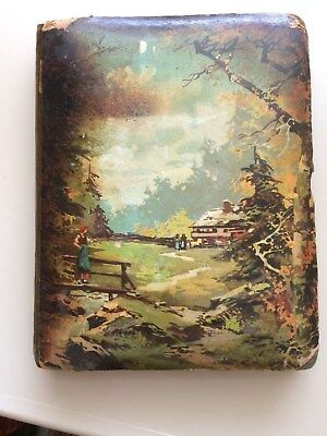antique 1910  Photograph Album  Made in Germany.  Very thick Scenic Cover.
