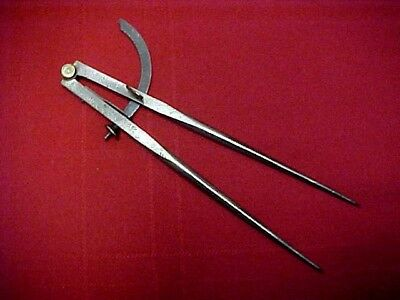 """""""peck, Stow & Wilcox """" Dividers, Steel Wing Divider W/spring & Set Screw, No 10"""