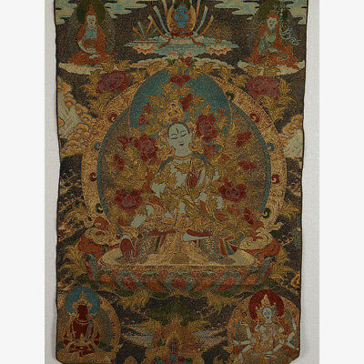 Tibet Collectable Silk Hand Painted Buddhism Thangka RK017+a