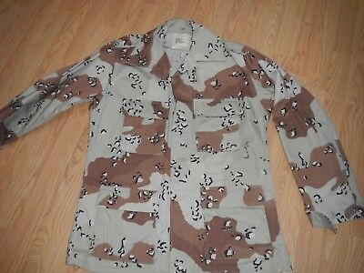 LOOKS NEW!! 6 Color Desert Camo Chocolate Chip DBDU MR Shirt Medium Regular USMC