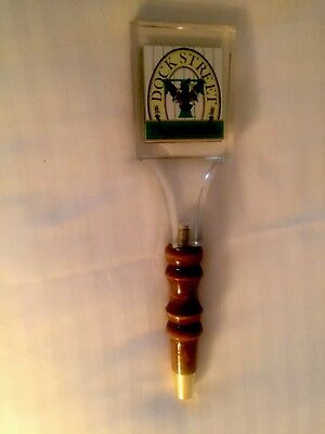 "DOCK STREET THUNDERBRAU BEER TAP HANDLE- Excellent, 12.5"" Tall"