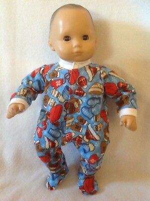 """15"""" Doll BITTY BABY winter Christmas sleeper pajamas pjs boy/girl clothes outfit"""