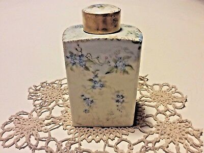 Antique Vanity Perfume  Bottle Hand Painted D & C France Signed M. R Limoge