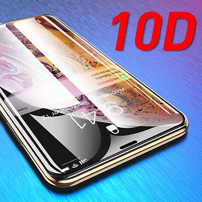 10D Full Cover Curved Tempered Glass Screen Protector For iPhone XR XS Max XS X