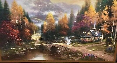 Thomas Kinkade Framed Print w/ COA, Valley Of Peace