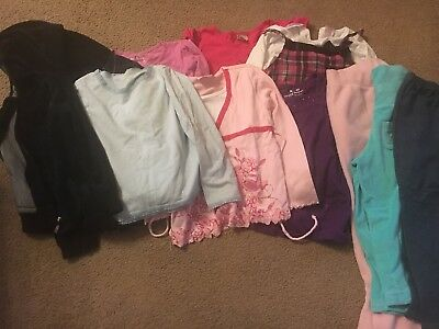 Lot of Girls Clothes - Long Sleeve Tops  And Pants- Size 6