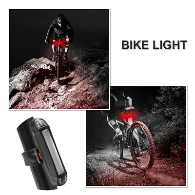 USB Rechargeable Bike Bicycle LED Rear Back Taillight Light Lamp Red Light CS591
