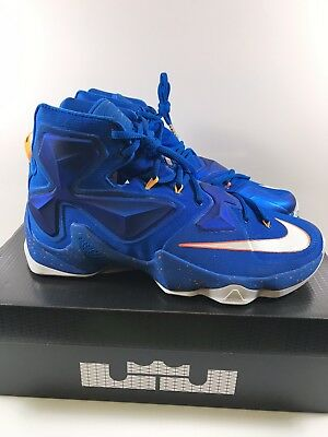 7ae2931c203 Nike Lebron Xiii 13 Balance Knicks Cavs Size 11 Blue White Orange 807219 418  New